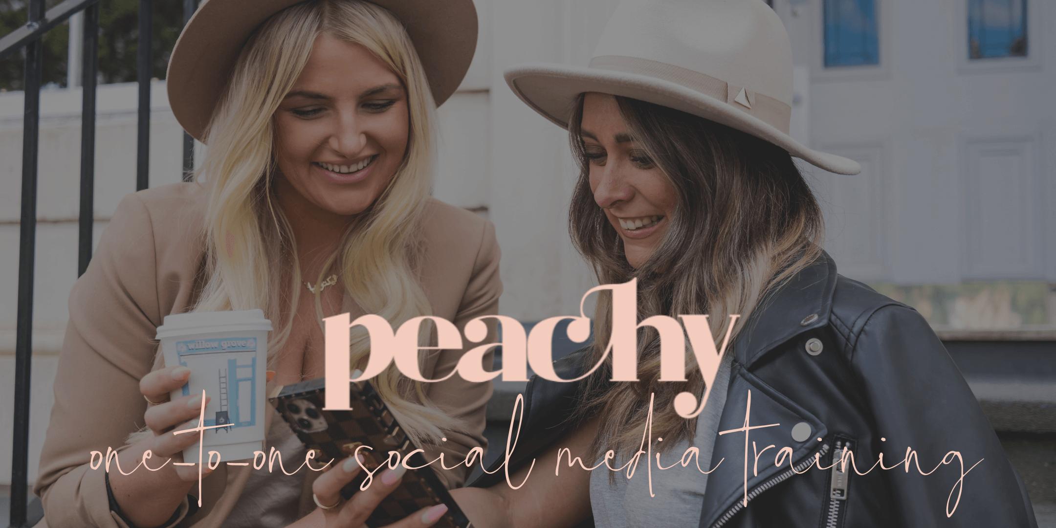 Peachy social media training glasgow